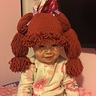 Photo #1 - Hand knit Cabbage Patch Kid wig