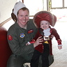 Photo #3 - Captain Hook posing with Dad at the squadron