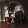 Photo #2 - The villains.  Cruella De vil with her dalmation and Pablo escobar