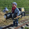 Photo #1 - Taking his train out on the (unused) tracks at the museum