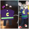 Photo #2 - Her costume vs. the real Chuck E. Cheese's costume