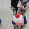 Photo #2 - He asked the balloon artist to make him an ice cream, didn't think he could do that! He actually did it, lol.
