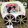 Photo #1 - Cinderella in her carriage with her Prince Charming (brother)