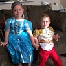 Photo #2 - Makiah and Zaiden as Cinderella and Prince Charming Halloween 2015.
