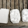 Photo #6 - Stages of converting foam blocks into 'rocks'