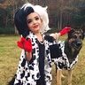 Photo #1 - Cruella de Vil and her Terrified Dalmatian