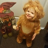Photo #1 - Courageous Lion and his buddy the scarecrow