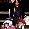 Photo #2 - Here we have Dad and the boys..out for a stroll. Possibly up to a little trickery or treatery? I guess that with PIRATES it could be TREACHERY! (EGADS!)