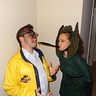 Photo #1 - Dilophosaurus and Dennis Nedry