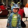 Photo #1 - 'Scary dragon' at the halloween party for kids in her building