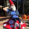 Photo #2 - Elias the Gnome Rests on a Mushroom