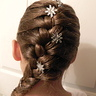 Photo #3 - Snowflake pins and side braid on Elsa.