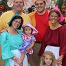 Photo #1 - Fairy Godmother,Cinderella, Mice ( Gus,Jacque,Perla and Suzy)