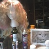Photo #7 - wig halfway done with nose painted