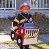 Photo #1 - Gabe driving his fire engine!