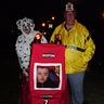 Photo #3 - Engine, firemen, and dalmation