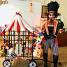 Photo #1 - Ringmaster with circus wagon