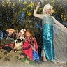 Photo #1 - My 'Frozen' grand kids & dog!