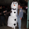 Photo #3 - Me and my boyfriend who brought Olaf to life for me