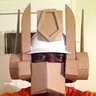 Photo #4 - This is the complete pre-painted helmet, made from a hardhat and cardboard