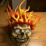 Photo #5 - The mask/skull with finished flames
