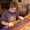 Photo #3 - David sewing the flames