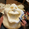 Photo #2 - The early stages...carving the Slimer out of expandable foam