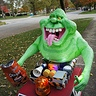 Photo #3 - Trick or treating with Slimer (he's got his bag of chips!)