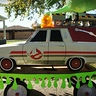 Photo #7 - Ecto-1 made of cardboard, paper mache, foamboard, wood, cans, wire etc.