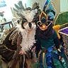 Photo #1 - Nadia the Great Horned Owl & Juliett the Peacock