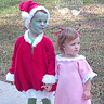 Photo #3 - The Grinch and Cindy Lou Whoo hold hands...