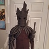 Photo #5 - The slow process of layering Groot's vines onto a hoody. A lot of hot glue and foam pipe insulation.