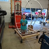 Photo #5 - Joshy with the pvc frame work and roller assembly