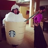 Photo #1 - Starbuck Frappacino is sampled by a Spanish Flamenco dancer