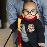Photo #2 - Henry Potter practices his spells.