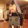 Photo #3 - Sarah admires her Haunted House Costume