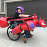 Photo #1 - The finished costume of Hiro riding Baymax.
