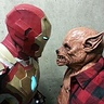 Photo #2 - Staring competition with the wolf man (note Iron Man doesn't blink)