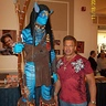 Photo #7 - AVATAR Warrior (in first appearance w/ stilts) poses w/ WWE 'legend' Tatanka at Super Megafest.