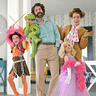Photo #1 - Jim Henson & the Muppets Family Halloween Group Costume. Kermit, Miss Piggy, Animal, Fozzy Bear, and Jim Henson.