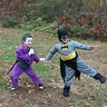 Photo #2 - using a joy-buzzer on batman