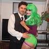 Photo #5 - My serious husband with his Joker wife.