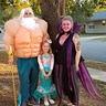 Photo #2 - King Triton, Ursula and Little Mermaid