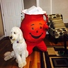 Photo #1 - Kool Aid man posing with his dog