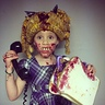 Photo #2 - Jelly Kelly Garbage Pail Kid Yes, it's totally Real jelly! $2 dress, $1.50 wig and $1 bottle of jelly. $4.50 for this costume. A sandwhich game we have had forever.
