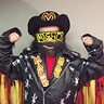 Photo #3 - Macho Man/Randy Savage Fringe jacket and curtains, washable paint, cardboard and puffy paint!! Oooo yeah! Cream of the crop!