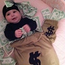 Photo #1 - Money bag costume and money bag candy bag