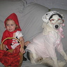 Photo #1 - Chloe Nicole and Kira the dog as Little Red Riding Hood and The Big Bad Wolf pic #1