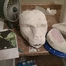 Photo #7 - Adding plaster to head and horns