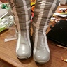 Photo #10 - spray painted boots with painted white lines
